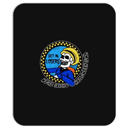 Get In Losers Skull We're Saving Halloween Town Mousepad Designed By Pinkanzee