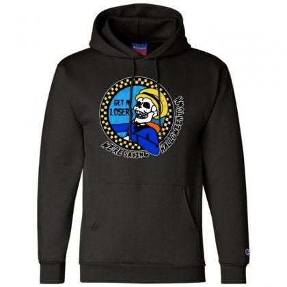 Get In Losers Skull We're Saving Halloween Town Champion Hoodie Designed By Pinkanzee