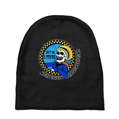 Get In Losers Skull We're Saving Halloween Town Baby Beanies Designed By Pinkanzee