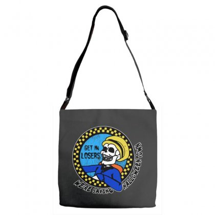 Get In Losers Skull We're Saving Halloween Town Adjustable Strap Totes Designed By Pinkanzee