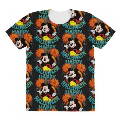Funny Mickey Mouse Pumpkin Happy Halloween All Over Women's T-shirt Designed By Pinkanzee