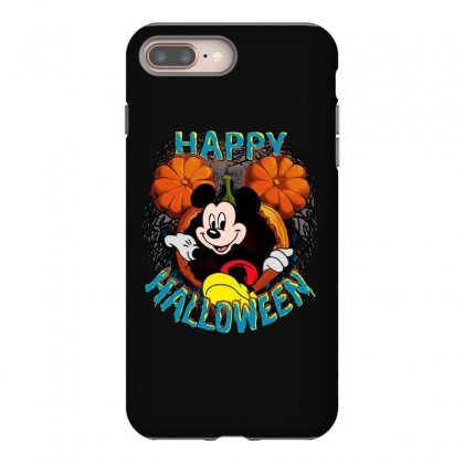 Funny Mickey Mouse Pumpkin Happy Halloween Iphone 8 Plus Case Designed By Pinkanzee