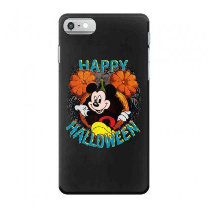 Funny Mickey Mouse Pumpkin Happy Halloween Iphone 7 Case Designed By Pinkanzee