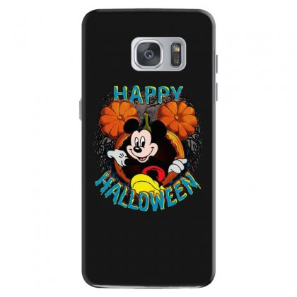 Funny Mickey Mouse Pumpkin Happy Halloween Samsung Galaxy S7 Case Designed By Pinkanzee
