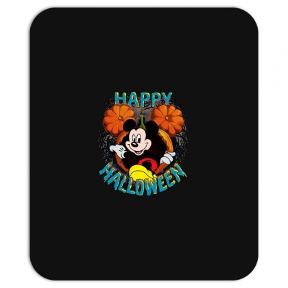 Funny Mickey Mouse Pumpkin Happy Halloween Mousepad Designed By Pinkanzee