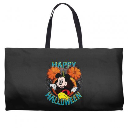 Funny Mickey Mouse Pumpkin Happy Halloween Weekender Totes Designed By Pinkanzee