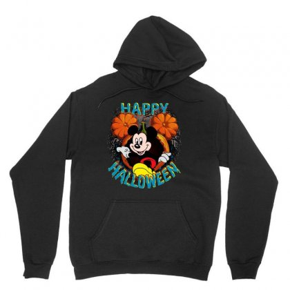 Funny Mickey Mouse Pumpkin Happy Halloween Unisex Hoodie Designed By Pinkanzee