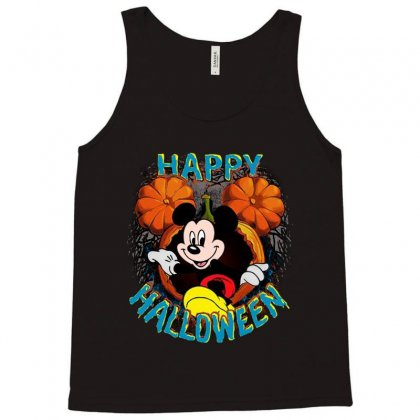 Funny Mickey Mouse Pumpkin Happy Halloween Tank Top Designed By Pinkanzee