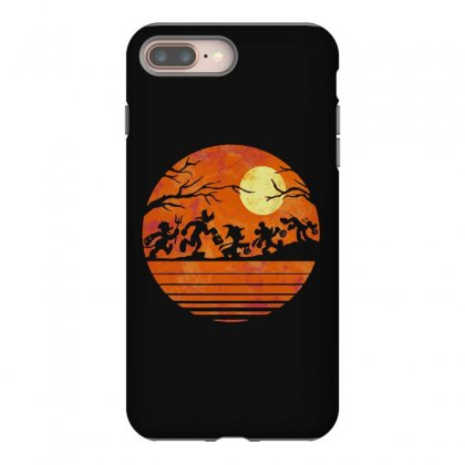 Funny Halloween Walk Under The Moon   Funny Mickey Mouse And Friends T Iphone 8 Plus Case Designed By Pinkanzee