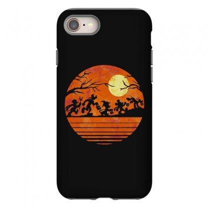 Funny Halloween Walk Under The Moon   Funny Mickey Mouse And Friends T Iphone 8 Case Designed By Pinkanzee