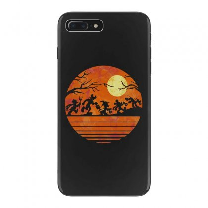 Funny Halloween Walk Under The Moon   Funny Mickey Mouse And Friends T Iphone 7 Plus Case Designed By Pinkanzee