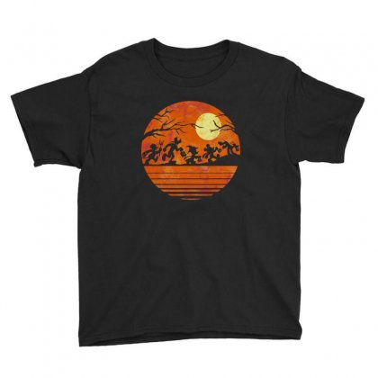 Funny Halloween Walk Under The Moon   Funny Mickey Mouse And Friends T Youth Tee Designed By Pinkanzee