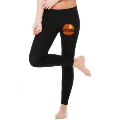 Funny Halloween Walk Under The Moon   Funny Mickey Mouse And Friends T Legging Designed By Pinkanzee