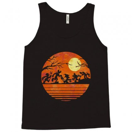 Funny Halloween Walk Under The Moon   Funny Mickey Mouse And Friends T Tank Top Designed By Pinkanzee