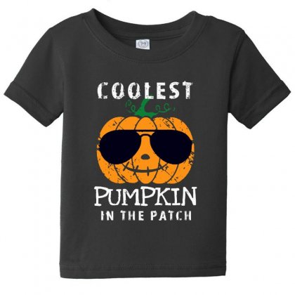 Funny Halloween Coolest Pumpkin In The Patch Baby Tee Designed By Pinkanzee