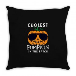 funny halloween coolest pumpkin in the patch Throw Pillow | Artistshot
