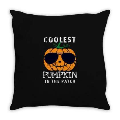 Funny Halloween Coolest Pumpkin In The Patch Throw Pillow Designed By Pinkanzee
