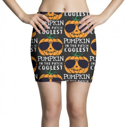 Funny Halloween Coolest Pumpkin In The Patch Mini Skirts Designed By Pinkanzee