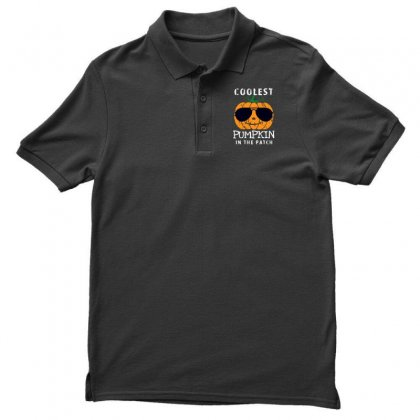 Funny Halloween Coolest Pumpkin In The Patch Men's Polo Shirt Designed By Pinkanzee