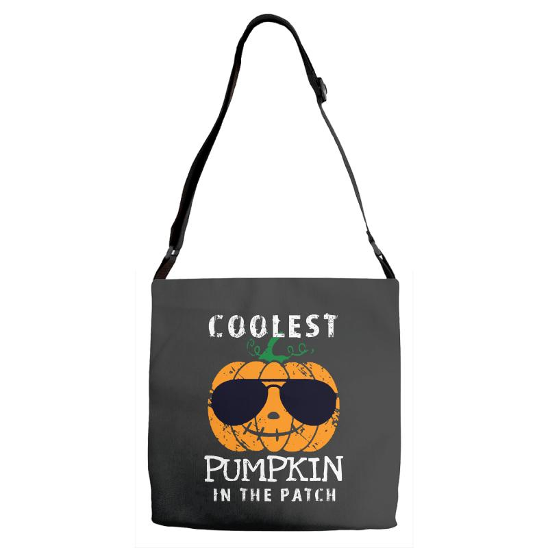 Funny Halloween Coolest Pumpkin In The Patch Adjustable Strap Totes | Artistshot