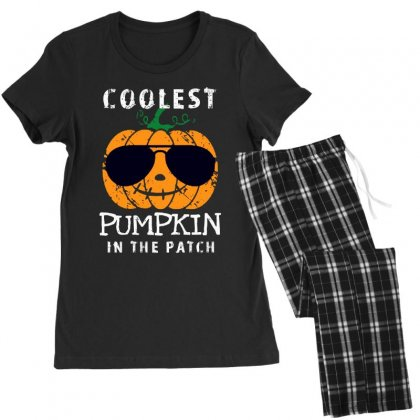 Funny Halloween Coolest Pumpkin In The Patch Women's Pajamas Set Designed By Pinkanzee