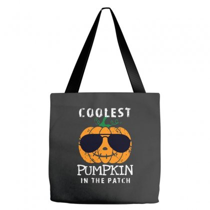 Funny Halloween Coolest Pumpkin In The Patch Tote Bags Designed By Pinkanzee
