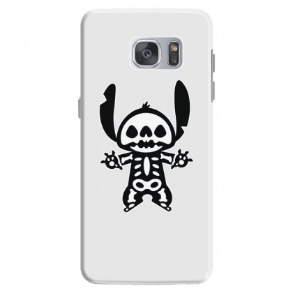 Funny Disney Stitch Halloween Skeleton Samsung Galaxy S7 Case Designed By Pinkanzee
