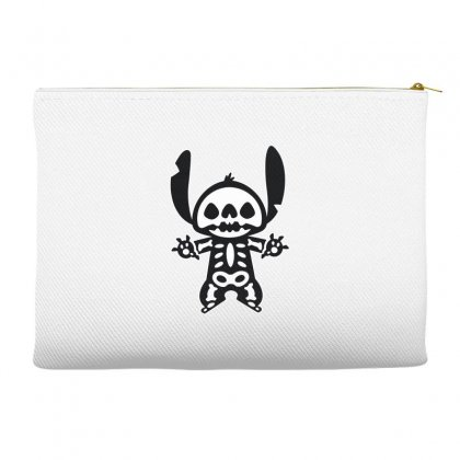Funny Disney Stitch Halloween Skeleton Accessory Pouches Designed By Pinkanzee