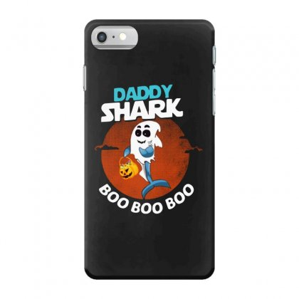 Funny Daddy Shark Boo Boo Boo Shark Ghost Halloween For Dark Iphone 7 Case Designed By Pinkanzee