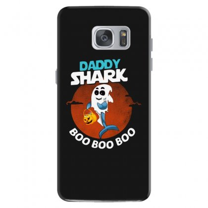 Funny Daddy Shark Boo Boo Boo Shark Ghost Halloween For Dark Samsung Galaxy S7 Case Designed By Pinkanzee