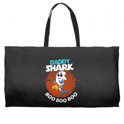 Funny Daddy Shark Boo Boo Boo Shark Ghost Halloween For Dark Weekender Totes Designed By Pinkanzee