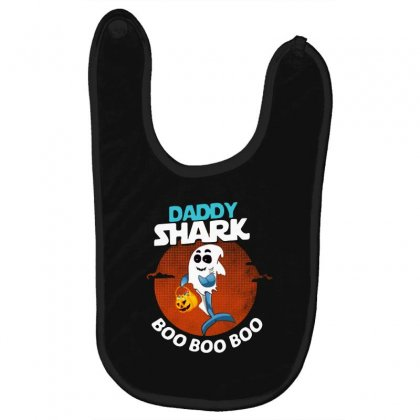 Funny Daddy Shark Boo Boo Boo Shark Ghost Halloween For Dark Baby Bibs Designed By Pinkanzee