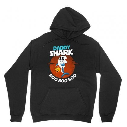 Funny Daddy Shark Boo Boo Boo Shark Ghost Halloween For Dark Unisex Hoodie Designed By Pinkanzee