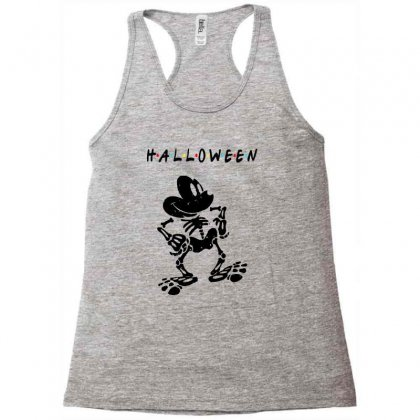 Funny  Mickey Mouse Skeleton Halloween For Light Racerback Tank Designed By Pinkanzee