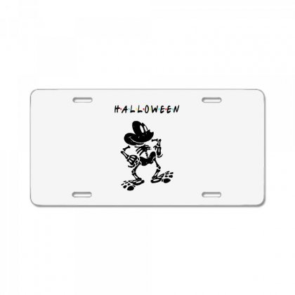 Funny  Mickey Mouse Skeleton Halloween For Light License Plate Designed By Pinkanzee