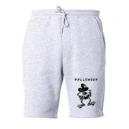 Funny  Mickey Mouse Skeleton Halloween For Light Fleece Short Designed By Pinkanzee