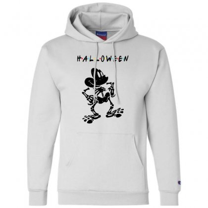 Funny  Mickey Mouse Skeleton Halloween For Light Champion Hoodie Designed By Pinkanzee