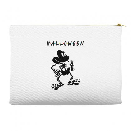 Funny  Mickey Mouse Skeleton Halloween For Light Accessory Pouches Designed By Pinkanzee