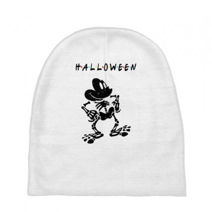Funny  Mickey Mouse Skeleton Halloween For Light Baby Beanies Designed By Pinkanzee