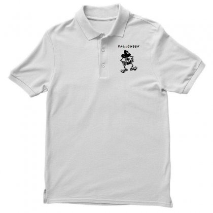 Funny  Mickey Mouse Skeleton Halloween For Light Men's Polo Shirt Designed By Pinkanzee