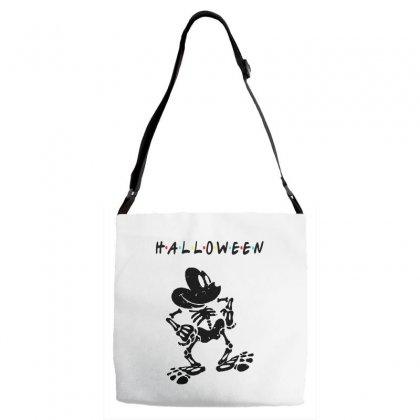 Funny  Mickey Mouse Skeleton Halloween For Light Adjustable Strap Totes Designed By Pinkanzee