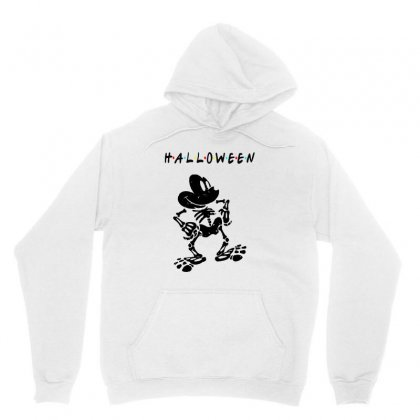 Funny  Mickey Mouse Skeleton Halloween For Light Unisex Hoodie Designed By Pinkanzee