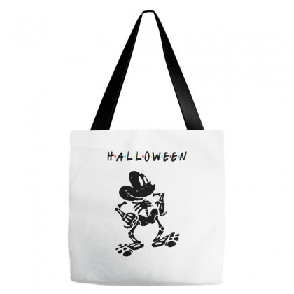 Funny  Mickey Mouse Skeleton Halloween For Light Tote Bags Designed By Pinkanzee