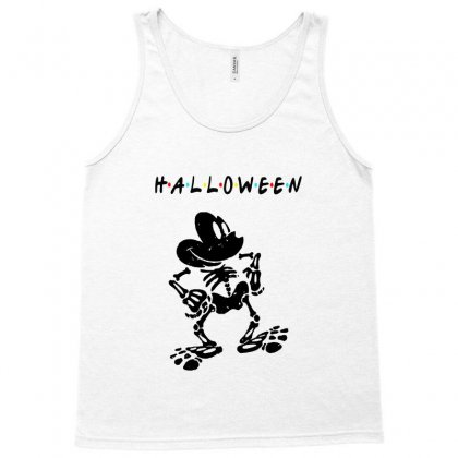 Funny  Mickey Mouse Skeleton Halloween For Light Tank Top Designed By Pinkanzee