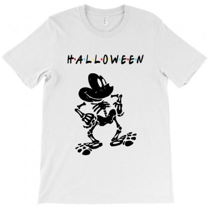 Funny  Mickey Mouse Skeleton Halloween For Light T-shirt Designed By Pinkanzee