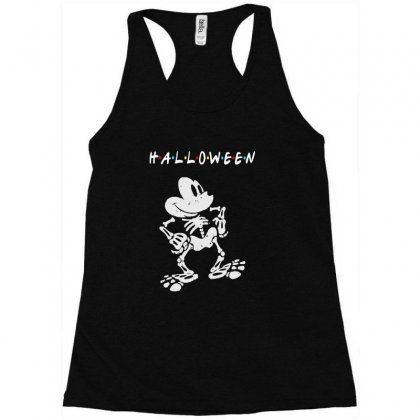 Funny  Mickey Mouse Skeleton Halloween For Dark Racerback Tank Designed By Pinkanzee