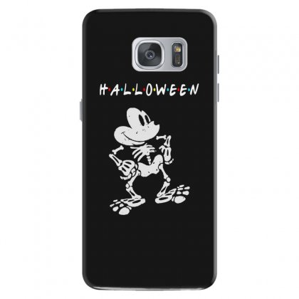 Funny  Mickey Mouse Skeleton Halloween For Dark Samsung Galaxy S7 Case Designed By Pinkanzee