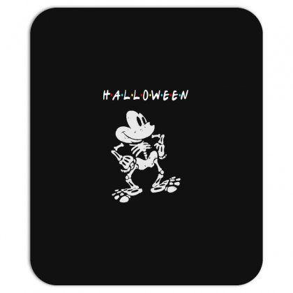 Funny  Mickey Mouse Skeleton Halloween For Dark Mousepad Designed By Pinkanzee