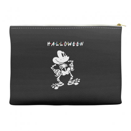 Funny  Mickey Mouse Skeleton Halloween For Dark Accessory Pouches Designed By Pinkanzee