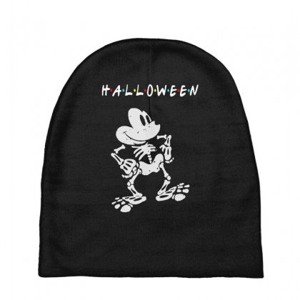Funny  Mickey Mouse Skeleton Halloween For Dark Baby Beanies Designed By Pinkanzee